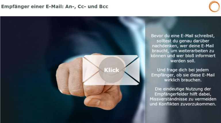 Empfänger einer E-Mail: An, Cc und Bcc