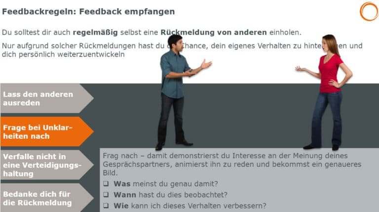 Feedbackregeln: Feedback empfangen