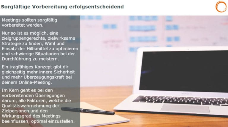 Online-Meetings: Sorgfältige Vorbereitung erfolgsentscheiden