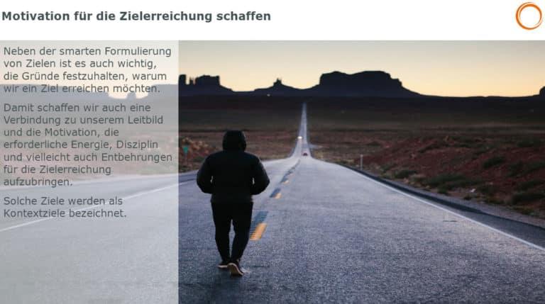 Motivation für die Zielerreichung schaffen: Kontextziele