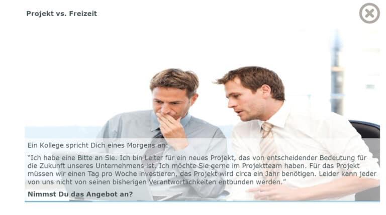 Situationen im Zeitmanagement: Projekt vs. Freizeit